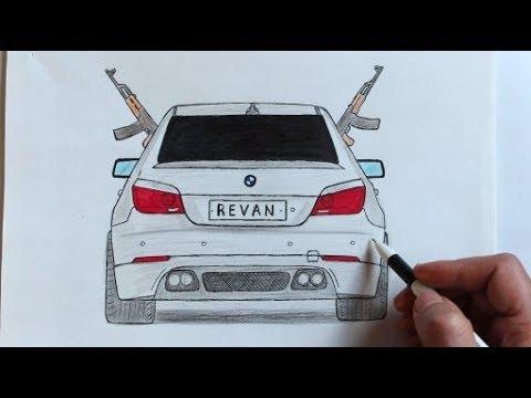 Как нарисовать машину BMW