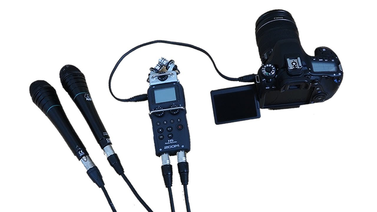 Zoom H5 Recorder | Part 1: Connecting Pro Mics to DSLR - YouTube