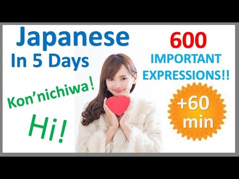 Learn Japanese in 5 days- Conversation for Beginners