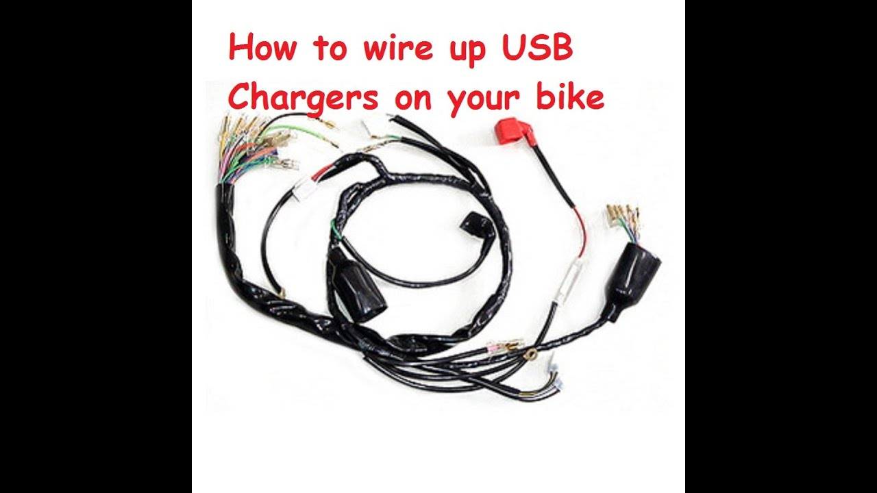 maxresdefault how to install a usb charger on to a motorcycle youtube replacing motorcycle wiring harness at gsmportal.co