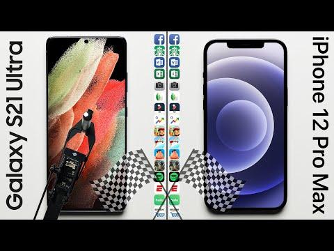 Galaxy S21 Ultra vs. iPhone 12 Pro Max Speed Test