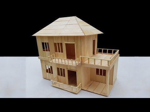 Building Popsicle Stick House Villa