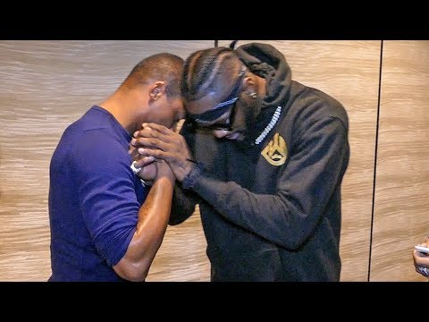 Deontay Wilder & REPORTER (Radio Rahim) AFTER CONTROVERSY!