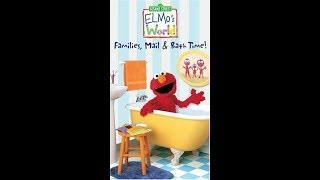 Elmo's World: Families, Mail & Bathtime (2004 VHS)