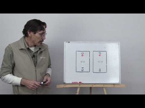 Missouri Wind and Solar battery wiring for the beginner series parallel wiring part 1