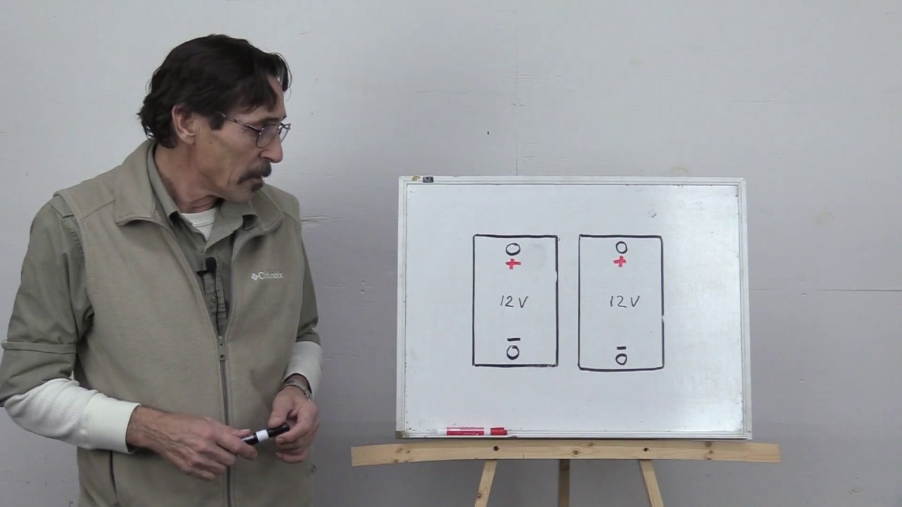 Battery Wiring For The Beginner Series And Parallel Part 1 Solar Missouri Wind Youtube