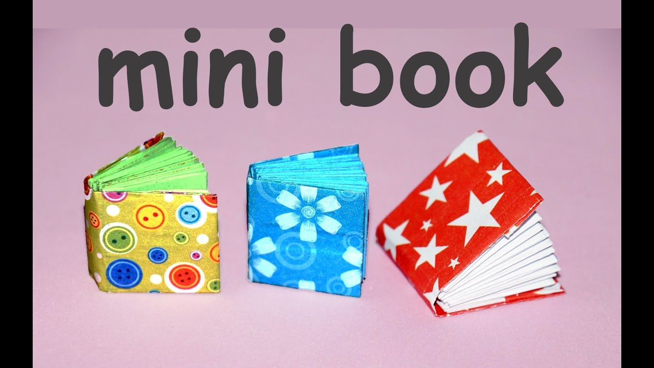 Diy Project Ideas How To Make A Mini Origami Book Miniature