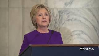 Hillary Clinton addresses fake news today at Harry Reid event