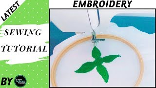 Free Motion Embrodiery on Usha Janome sewing machine Without Foot In Hindi