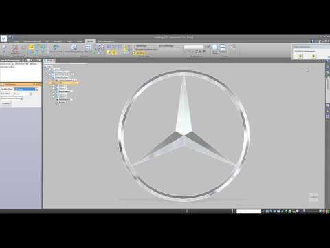 3D Solid Edge ST9 Mercedes Stern logo