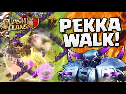 THE PEKKA WALK! TH8 Trophy Push to Champions League #5 in Clash of Clans!