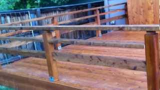Building A Cedar Deck With Custom Handrails Denver Deck Contractor Part 6