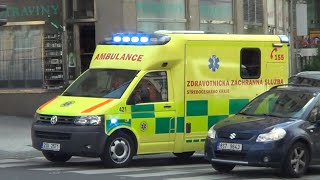 *3 in 1 video* Czech ambulance & 2 police cruisers responding to different calls in Prague [7.2013]