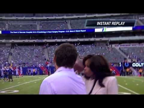 Pam Oliver / Reporter hit in the face with football | Slow mo and replay added