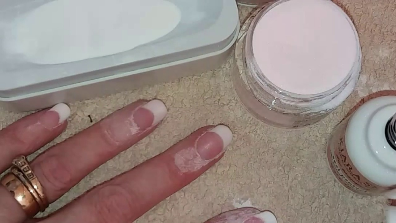 Kiara Sky Dipping French Manicure - YouTube