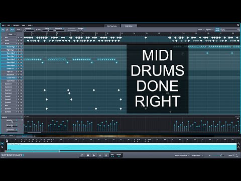Editing Drum Midi In Superior Drummer 3 For Great Sounding Drums