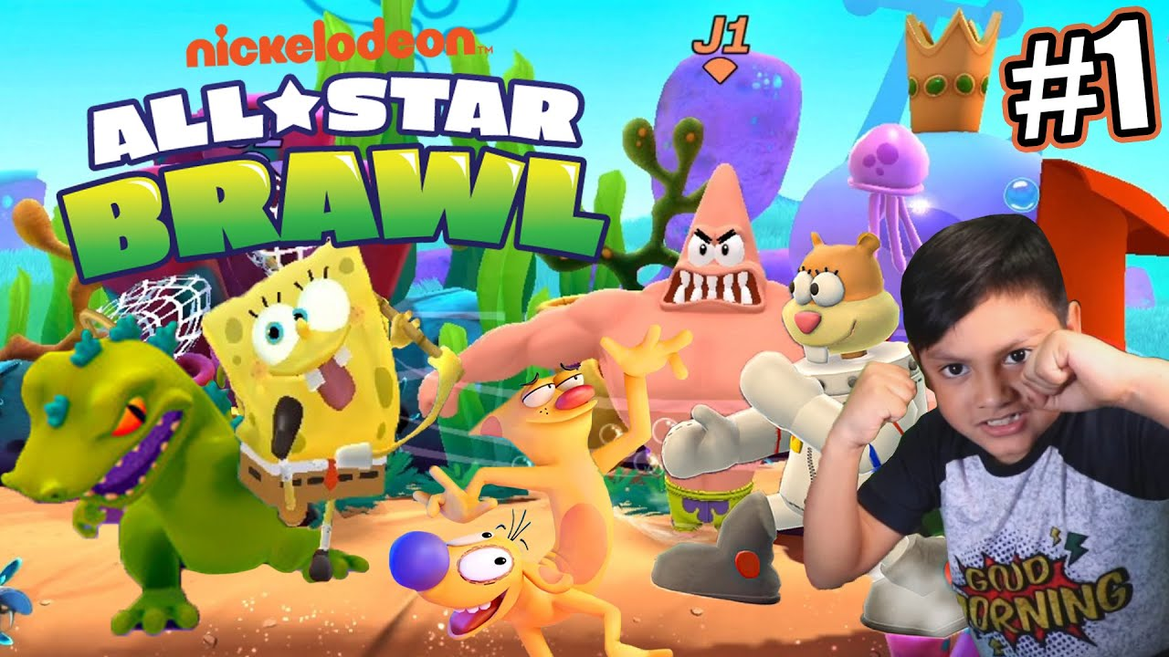 Luchas en Nickelodeon All Star Brawl | BOB ESPONJA VS PATRICIO | Juegos Karim Juega
