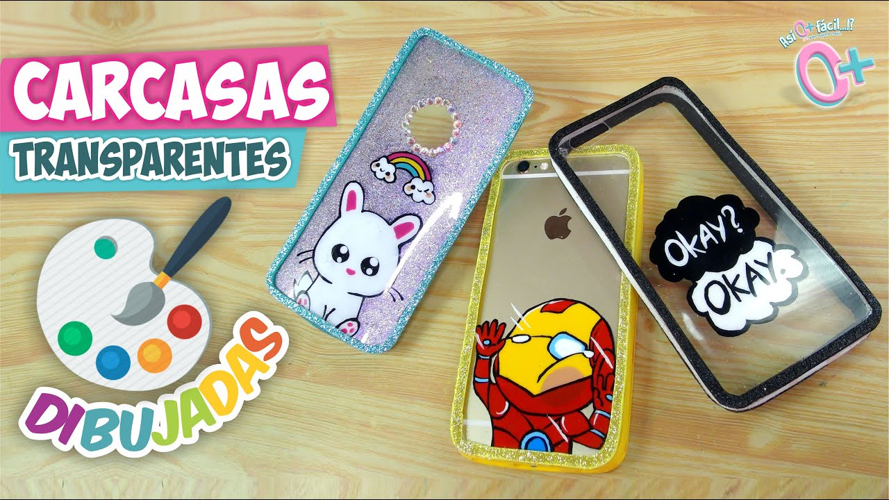 Dibuja tus fundas transparentes as o m s f cil diy - Decorar funda movil ...