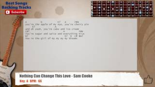 Nothing Can Change This Love - Sam Cooke Guitar Backing Track with chords and lyrics