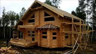 видео Каталог проектов: проект деревянного дома из бревна Об-72