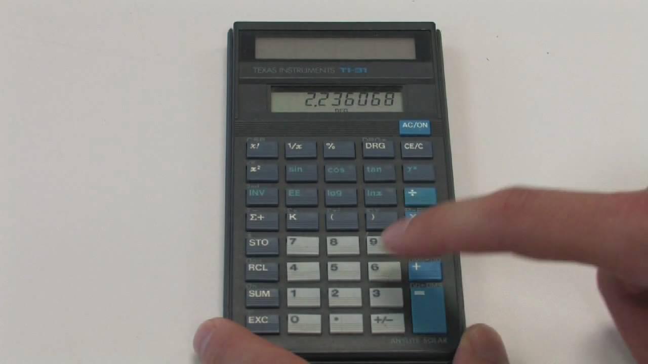 Mathematics: Geometry & Trigonometry : Tips on Using a Calculator ...