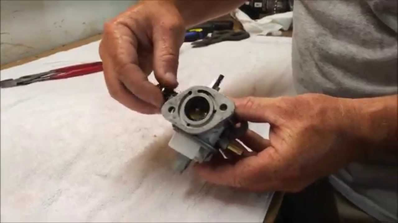 carburetor cleaning on a kawasaki 580v - youtube