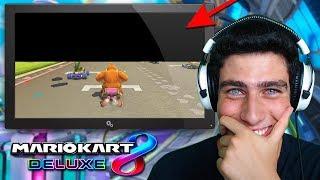 JUGANDO SIN VER LA MITAD DE LA PANTALLA EN MARIO KART 8 DELUXE | Nintendo Switch
