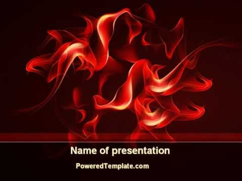 Tongues Of Flame PowerPoint Template By PoweredTemplate.com