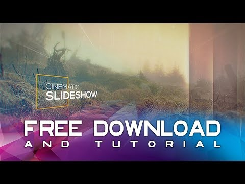 Cinematic Slideshow After Effects Template + Free Download + Tutorial