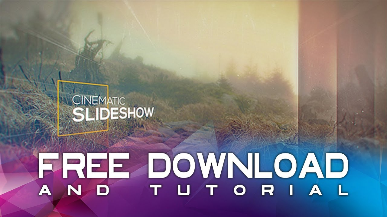 Cinematic Slideshow After Effects Template Free Download Tutorial Youtube Templates Free Download After Effects Templates After Effects After effects slideshow template free