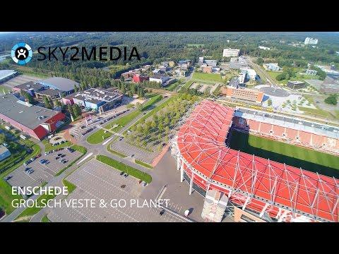 Luchtvideo Drone Enschede Grolsch Veste Go Planet FC Twente Aerial Video The Netherlands Sky2Media