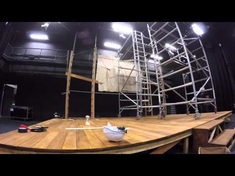 Behind The Scenes  | Black Box Theatre Set Up - Time Lapse