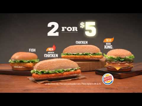 Burger King Specialty Sandwiches