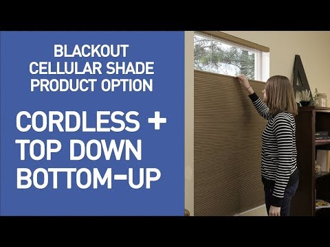 Cellular Shades with Cordless and Top-Down/Bottom-Up from Blinds.com