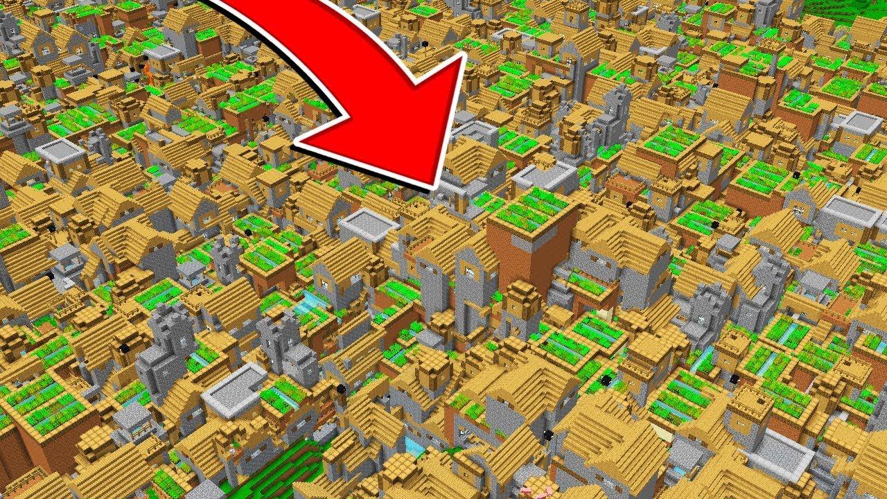 Worlds Biggest Minecraft Village Legit