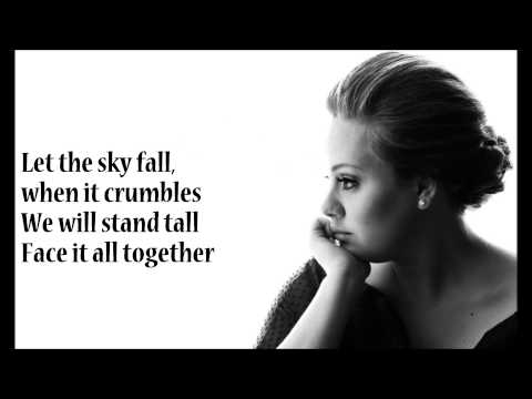 Adele - SKYFALL +lyrics