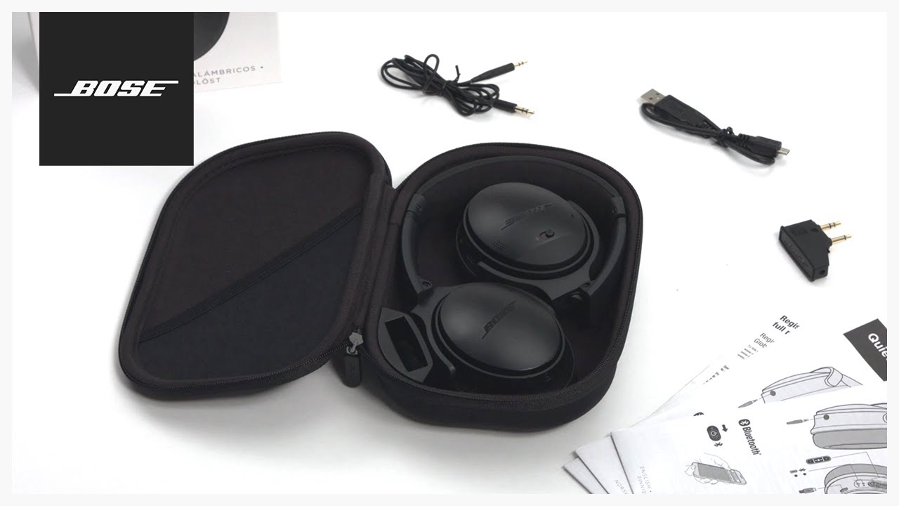 edb0b41de73 Bose QuietComfort 35 – Unboxing + Setup. Bose Product Support