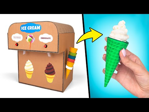 DIY Double Ice Cream Machine From Cardboard🍦