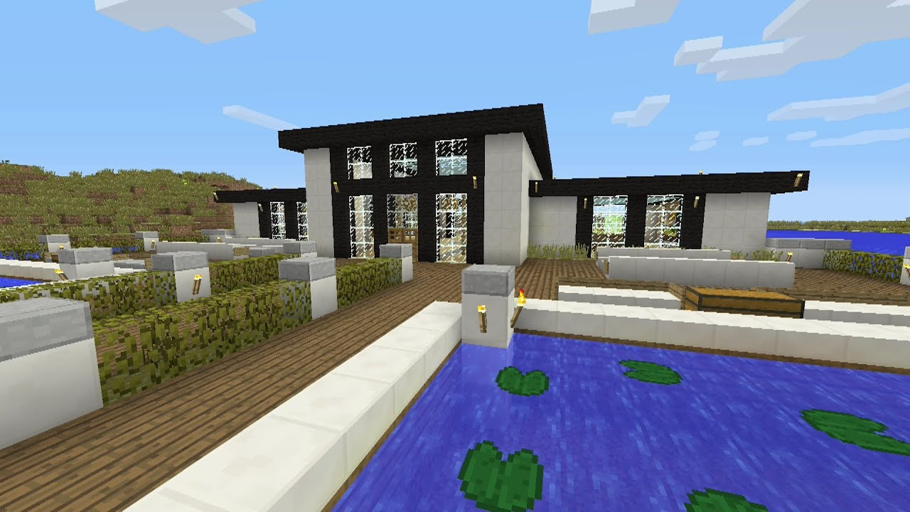 Minecraft Tutorial How To Make A Modern Quartz Survival House