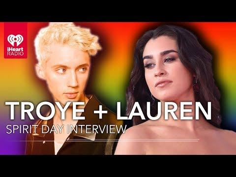 Lauren Jauregui & Troye Sivan Have Messages For LGBTQ Youth On Spirit Day