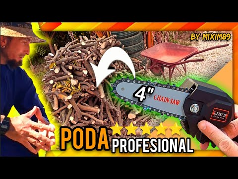 La Mejor y Más Pequeña MOTOSIERRA de PODA a BATERÍA (Montaje y Prueba a Pie de Campo) by mixim89