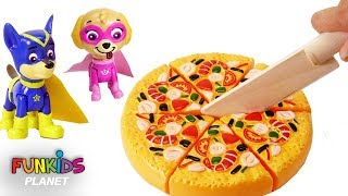 Toy Velcro Cutting Play Doh Pizza Microwave Paw Patrol Learn Fruits & Vegetables Toy Surprise Egg