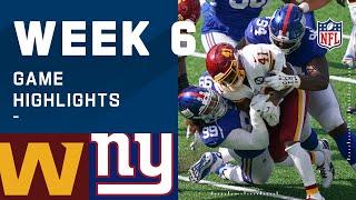 Washington Football Team vs. Giants Week 6 Highlights | NFL 2020