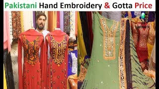 Pakistani Special Hand Embroidery and Gotta Work Dresses Whit Price || Gold Mark Shopping Mall 1