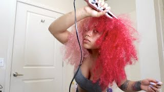 THE FIRST TIME STRAIGHTENING MY HAIR IN 5 YEARS!! | Vanessa Lynn