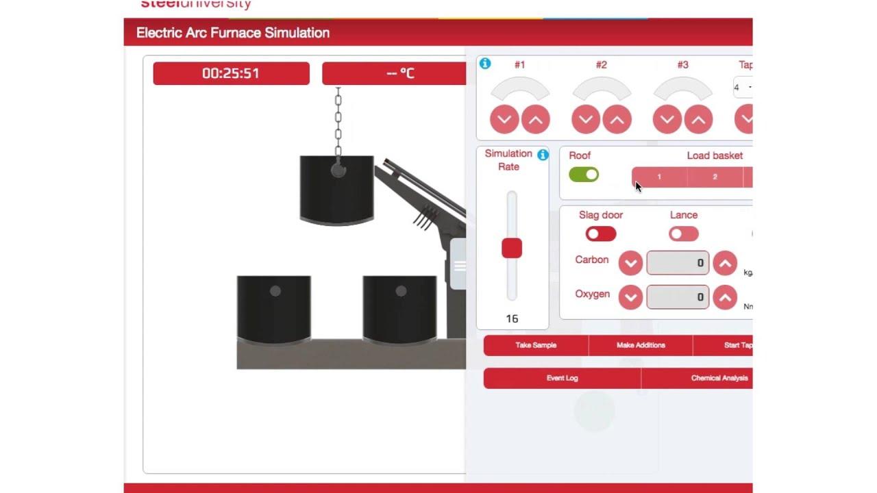 steeluniversity Simulator Tutorial - Electric Arc Furnace ...