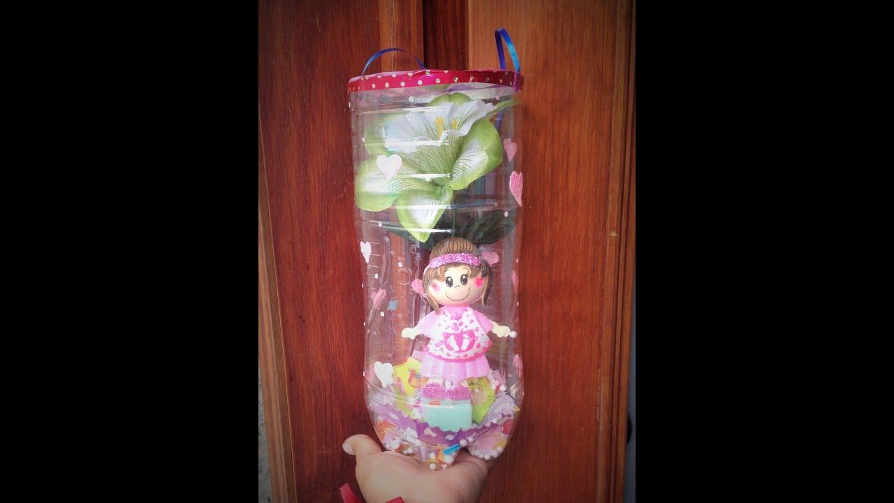 Diy regalo para mam con botella de pl stico reciclaje pet - Reciclaje manualidades decoracion ...