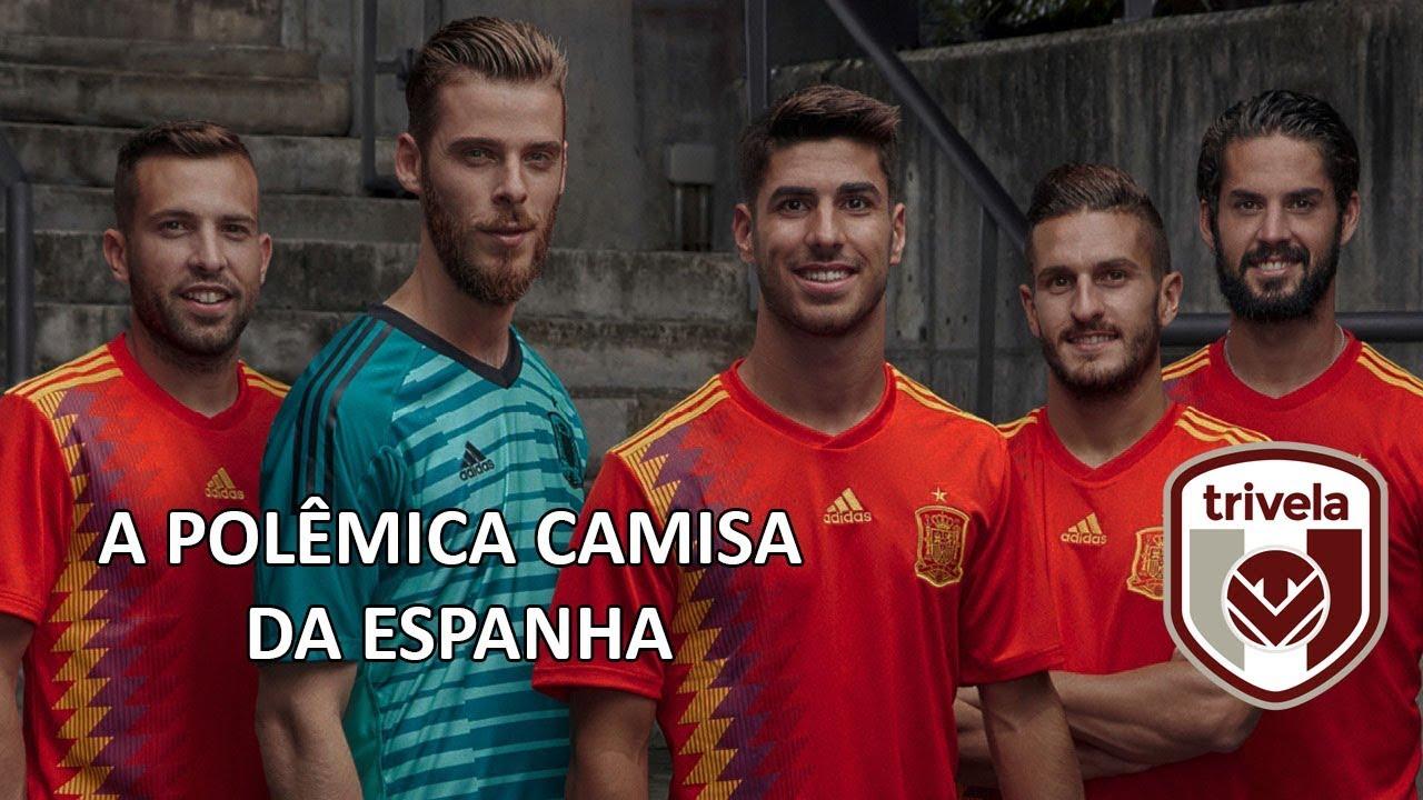 cbd852ccf7606 Trivela  14  Por que a camisa da Espanha para a Copa 2018 causou polêmica