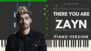 There You Are (ZAYN) | Piano Version TUTORIAL (Synthesia)