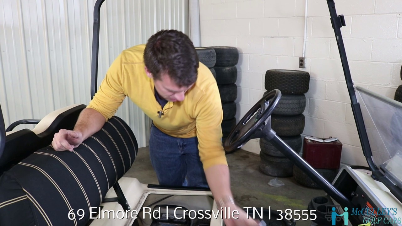 OIL CHANGE on a 2004 Club Car Ds Gas Golf Cart with McCulley's ... on